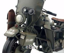 1/6 Harley Davidson WLA 1941 US armée moto de collection rétro en métal