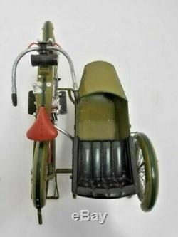 1917 Harley-Davidson Moto 3 Vitesse V-Twin 16 Maquette Avec Sidecar