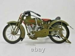 1917 Harley-Davidson Moto 3 Vitesse V-Twin 16 Maquette Avec Sidecar Boîtes