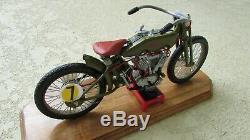 1917 Harley Davidson V Double Board Track Racer Moto Et Cavalier de Luxe 16