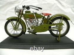 1917 Harley Davidson V Twin Modèle F Moto Avec / Vitrine Grand 16 Xonex