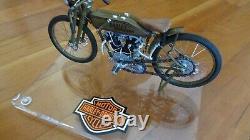 1923 Harley Davidson 8 Valve Moto Racer 110 Métal Moulé 8 COA Stand