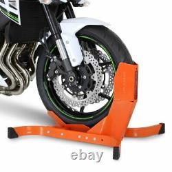 2x Bloque Roue noir-orange mat pour Harley Davidson V-Rod / Muscle