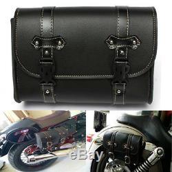 7XUniversal Moto Selle Pouch Sac Rangement Tool Cuir Pour Harley Davidson No U6