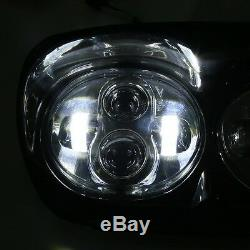 80W moto Hi/Lo faisceau double phare LED pour Harley Davidson Road Glide