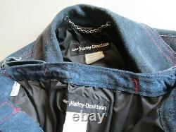 AMF HARLEY DAVIDSON BLOUSON PANTALON CUIR DAIM FEMME 70s MOTO JACKET PANTS LADYS