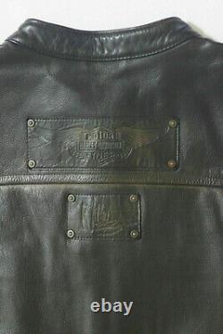 BLOUSON CUIR H MOTO HARLEY DAVIDSON (de collection, signé.)