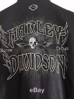 Moto Harley Noir Homme T3 Blouson Davidson Cuir 35A4jLR