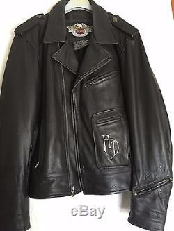 blouson moto harley davidson cuir noir homme t 3. Black Bedroom Furniture Sets. Home Design Ideas
