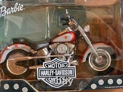 Barbie Harley Davidson 6 poupées différentes + 2 motos en un seul lot 1ère série