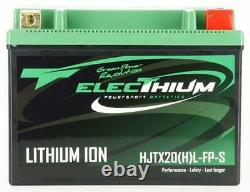Batterie Electhium pour Moto Harley Davidson 1584 Fxdf Dyna Fat Bob 2008 à