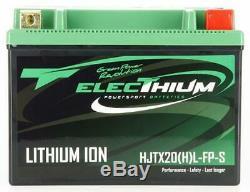 Batterie Electhium pour Moto Harley Davidson 1584 Fxdf Dyna Fat Bob 2008 à 2012