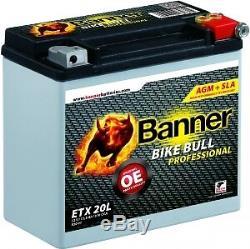 Batterie Moto ETX20 12v 18ah 310A AGM Pro Banner Bike Bull