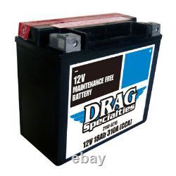 Batterie Moto Prêt à l'emploi DRAG YTX20HL-FT-B 12V 18Ah Harley Davidson