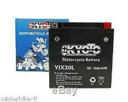 Batterie Moto Sans Entretien avec Pack Acide YIX30L HARLEY DAVIDSON FLT FLH 1450