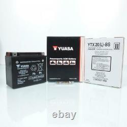 Batterie Yuasa pour Moto Harley Davidson 1450 FLSTF Fat Boy 2004 à 2006 YTX20HL