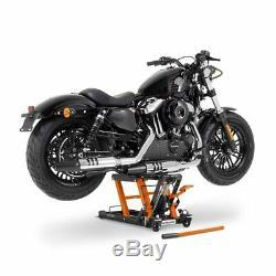 Béquille ciseaux CLO pour Harley Davidson Dyna Super Glide/ Custom, Cross Bones