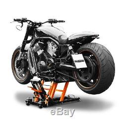 FXDL//I FXDF Dyna Low Rider FXDB Bequille dAtelier Cric Moto Hydraulique Lift ConStands L noir-orange Harley Davidson Dyna Fat Bob Dyna Street Bob