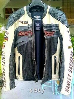 Blouson Cuir moto Harley Davidson taille M leather jacket M size