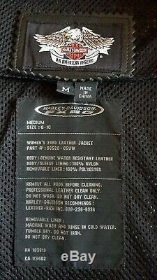 Blouson FXRG Harley Davidson en cuir noir. Modèle femme. Taille M