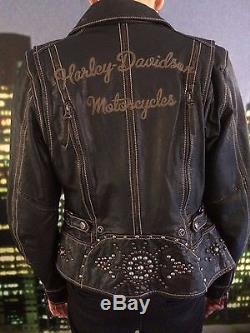 Blouson cuir moto femme pas cher