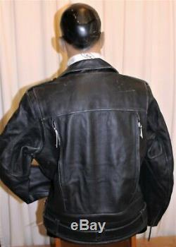 Blouson Perfecto moto cuir homme HARLEY DAVIDSON EL CAMINO ll NEUF noir T L
