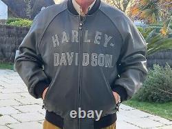 Blouson cuir homme XL moto Harley Davidson vintage très bon état