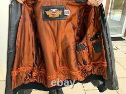 Blouson cuir homme XXL moto Harley Davidson vintage très bon état