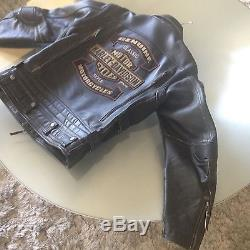 Blouson cuir moto Homme Harley Davidson Taille L Neuf