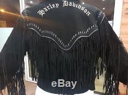 Veste moto cuir femme harley