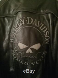 Blouson cuir moto harley davidson homme