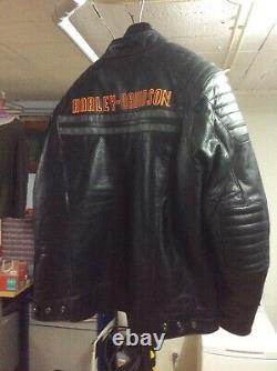Blouson cuir moto harley davidson homme 2XL
