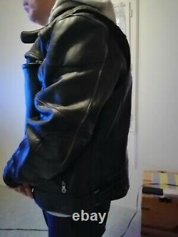 Blouson cuir noir harley davidson xl