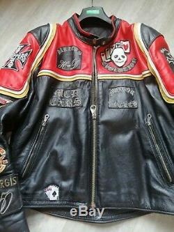 Blouson de moto en cuir taille xl Harley-Davidson et lhomme aux santiags
