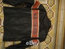 Blouson moto Harley davidson cuir taille MEDIUM homme