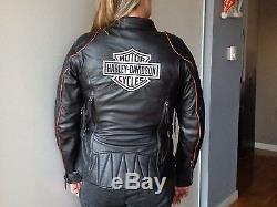Blouson moto Harley femme