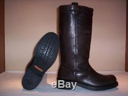 Bottes de moto Harley Davidson homme boots hauts cuir décontractée brun neuf 39