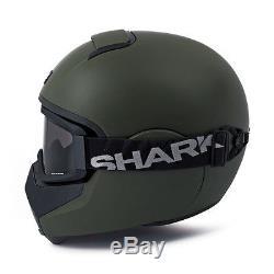 CASQUE INTEGRAL SHARK VANCORE VERT MAT/ MAT GREEN MOTO HARLEY DAVIDSON