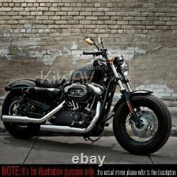 Carbone Lucifer led Rétroviseur 2 couleurs séquentiel pour custom Harley moto