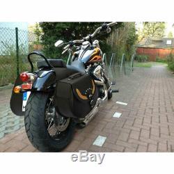 Chopper Motos Sacoches de Selle Premium Cuir Vache pour Harley Davidson & Autre