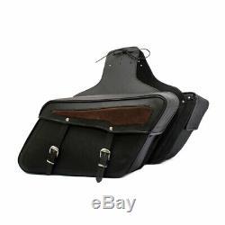 Chopper Motos Sacoches de Selle Premium Cuir Vache pour Harley Davidson & Autres