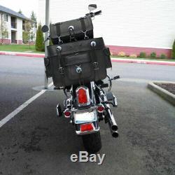 Chopper Motos Sacoches de Selle Premium Cuir de Vache pour Harley Davidson &