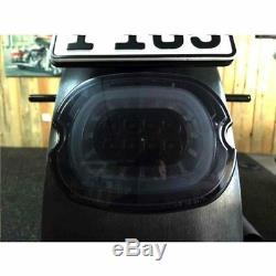 Clignotant Arriere Moto Led Winglets Noir Custom Harley Davidson Pe 20201499 Mot