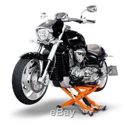 Cric Moto a Ciseaux Hydraulique pour Harley Davidson orange Leve de Stand