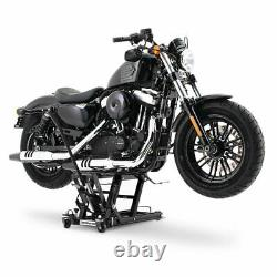 Cric Moto á Ciseaux L pour Harley Davidson Sportster 1200 Roadster noir Lève