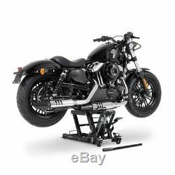 Cric Moto á Ciseaux L pour Harley Davidson Sportster 1200 noir Lève Hydraulique