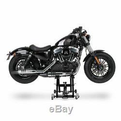 Cric Moto á Ciseaux XL pour Harley Davidson CVO Limited noir Lève Hydraulique