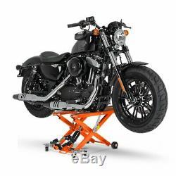 Cric Moto á Ciseaux XL pour Harley Davidson Cross Bones orange Lève Hydraulique