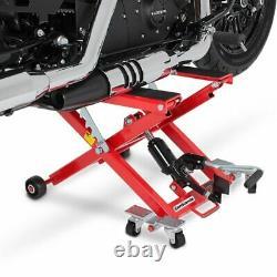 Cric Moto á Ciseaux XL pour Harley Davidson Night-Rod Special rouge Lève