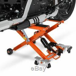 Cric Moto á Ciseaux XL pour Harley Davidson Sportster 1200 Iron orange Lève